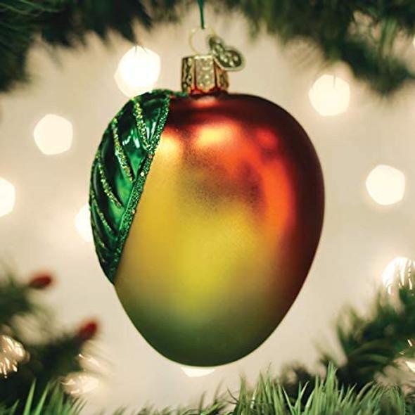 Old World Christmas Glass Blown Ornament Mango (#28131)