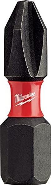 Milwaukee Electric Tool 48-32-4604 Shockwave Impact Duty insert Bit, NO 2, Phillips, 1 OAL, Proprietary Steel - 25 Count