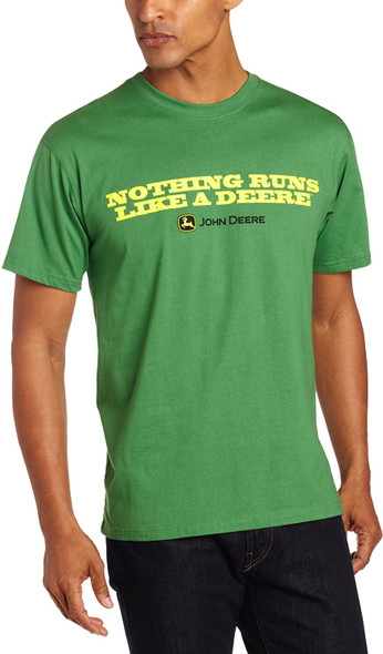 "John Deere ""Nothing Runs Like a Deere"" T-Shirt - Men's - John Deere Green, Medium"