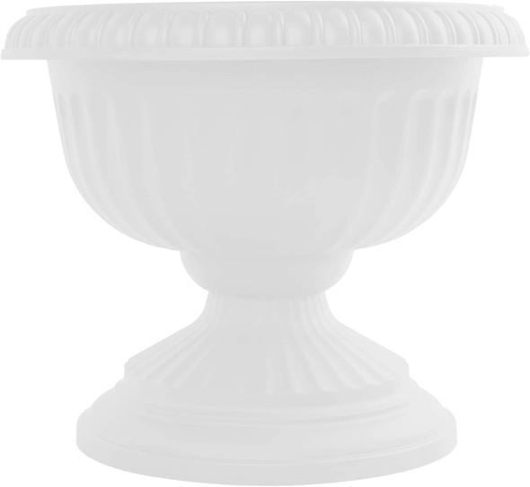 """Bloem GU12-09 Grecian Urn Planter 12"""" Casper White"""