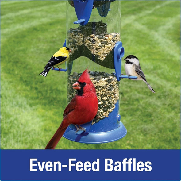 Nature's Way Bird Products WPFFB-19 Funnel Flip Top Tube Feeder, Blue, 18.5X8X8