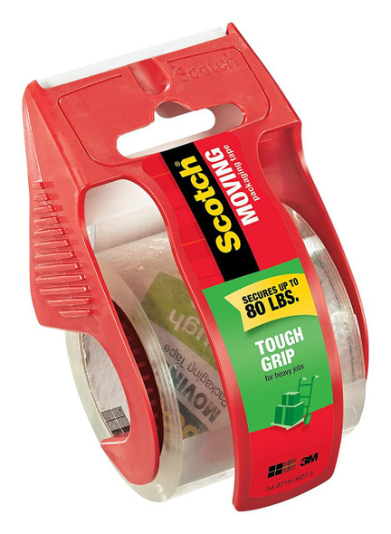 Scotch Tough Grip Moving Packaging Tape, 1.88 in. x 22.2 yd., 1 Dispenser/Pack