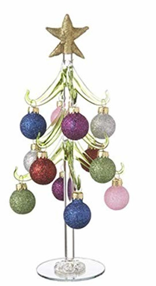 Ganz 10 Glass Tree with Sparkly Miniature Ornaments