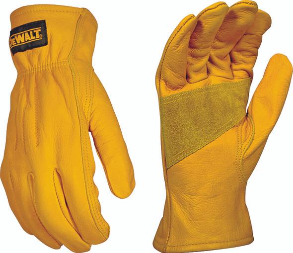 DeWALT Premium Grade Leather Driver Gloves, Large