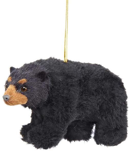 Kurt Adler (#C4669) Plush Black Bear Ornament, 4.5