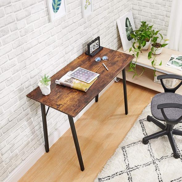 "Coavas Computer Desk for Home Office, Modern Wood, Rustic Walnut, 39"""