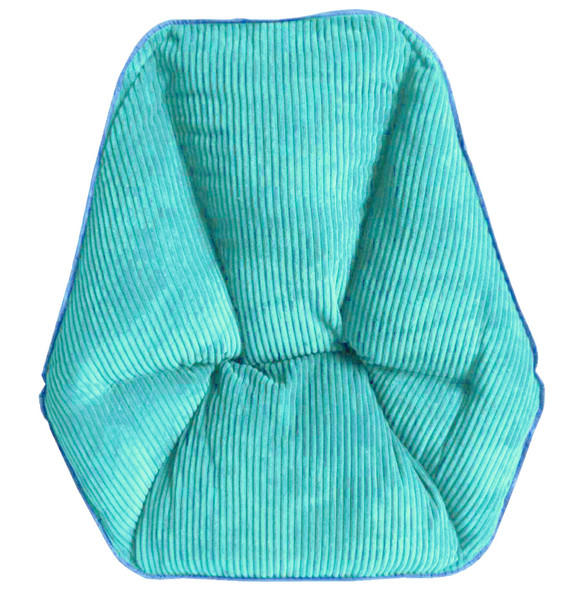 Zenithen Limited Hexagon Folding Dish Chair, Light Aqua Corduroy - Pack of 1