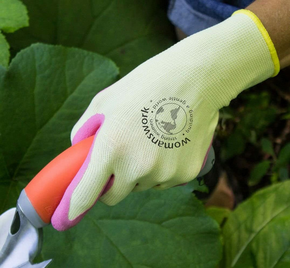 Womanswork Gardening Protective Weeding Glove For Women, Pink, Large