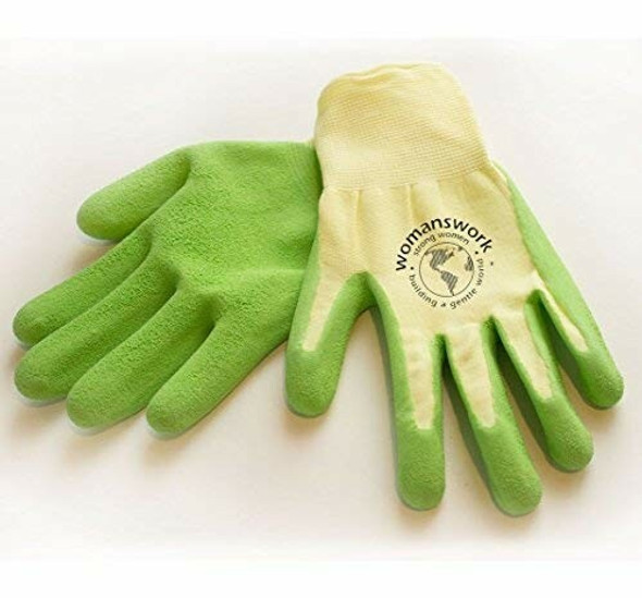 Womanswork Gardening Protective Weeding Glove For Women, Green, Small