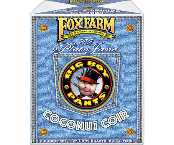 FoxFarm (#590054) Plain Jane Big Boy Pants Coconut Coir Growing Media, 3 CF