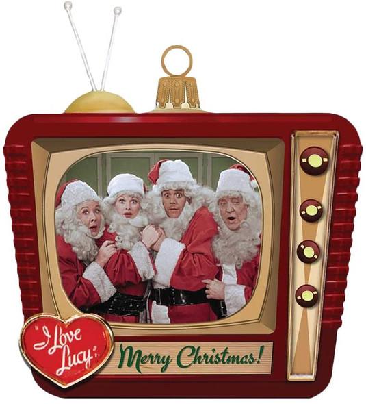 "Kurt Adler (#LU4151) Glass Christmas Ornament,  I Love Lucy TV - 2.5"""