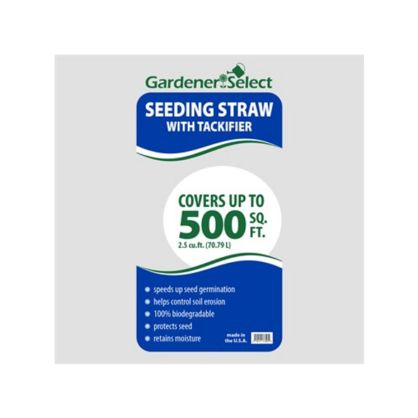 Gardener Select Seeding Straw with Tackifier, 2.5 Cubic Feet