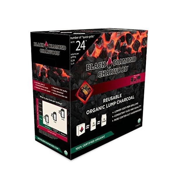 Black Diamond CharWood Organic Hardwood Lump Charcoal, 1.18 Cu.ft.