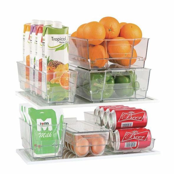 Culinary Edge Fridge Bin Set, Food Storage, Clear (7 Piece)