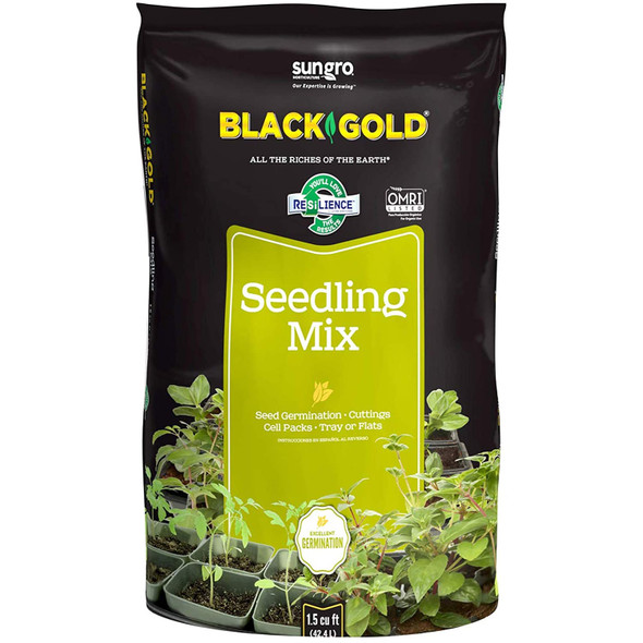 Sungro Black Gold Seedling Mix with RESiLIENCE, 1.5 CF