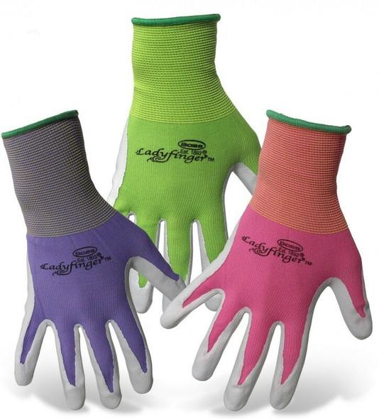 Boss Ladyfinger Adult Garden Gloves, Medium, Assorted Colors (Pack of 1)