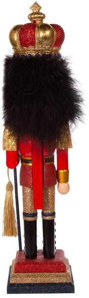 "Kurt Adler HA0587 Nutcracker, Red and Gold Soldier, 18"""