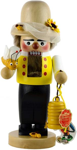 "Kurt Adler Chubby Beekeeper Handmade Nutcracker Figurine, 11.5"""