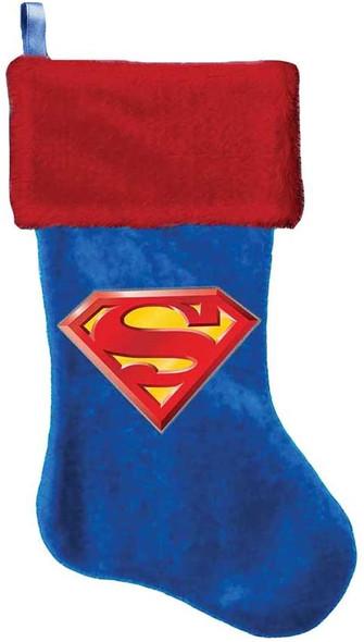 Kurt Adler Superman Logo Applique Stocking, 19-Inch