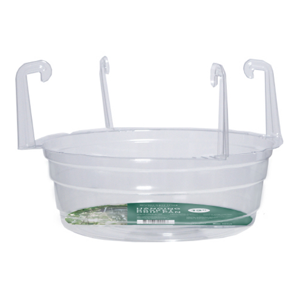 "Curtis Wagner Hanging Basket Drip Pan, Clear, 12"" (#HB1200)  Qty 1"