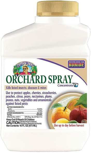 Bonide Chemical Citrus Fruit and Nut Orchard Spray Concentrate, 16 ounce