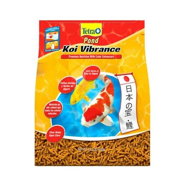 TetraPond (#16494) Koi Vibrance Color Enhancing Sticks Koi & Goldfish Food 1.43#