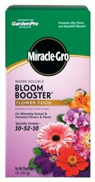 Miracle-Gro Water Soluble Bloom Booster Flower Food, 10-52-10, 4 Pound