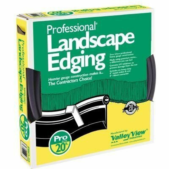 Valley View 20 Ft Professional Lawn Edging Boxed with 4 Stakes