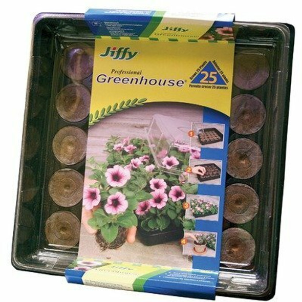 Jiffy All-in-One Greenhouse, Holds 25 Plants
