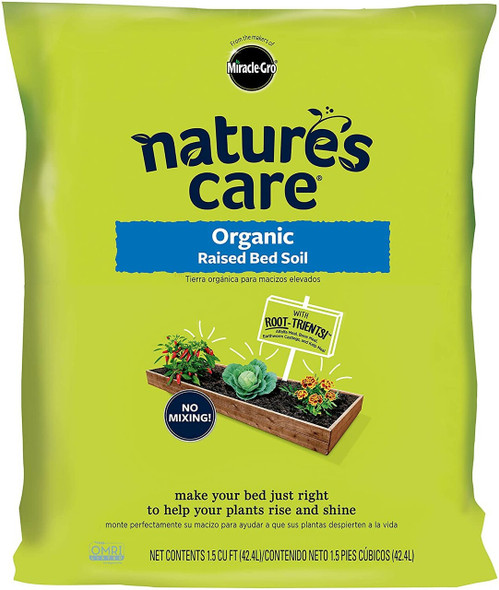 Miracle-Gro 72259120 Natures Care Organic Raised Bed Soil- 1.5 CU FT.