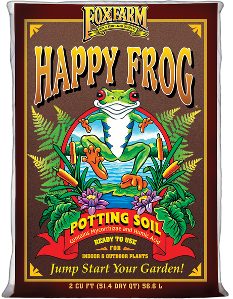 FoxFarm FX14047 Happy Frog Potting Soil, 2 Cubic Feet