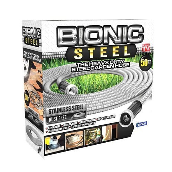 Bionic Steel 304 Stainless Steel Metal Garden Hose - Lightweight,Kink-Free, 50Ft
