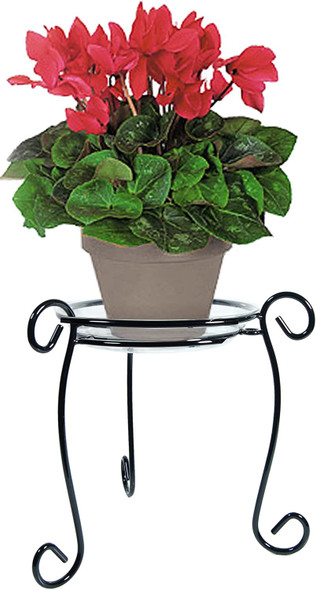 Plastec 13 Inch Black Simply Perfect Plant Stand PPS13BK