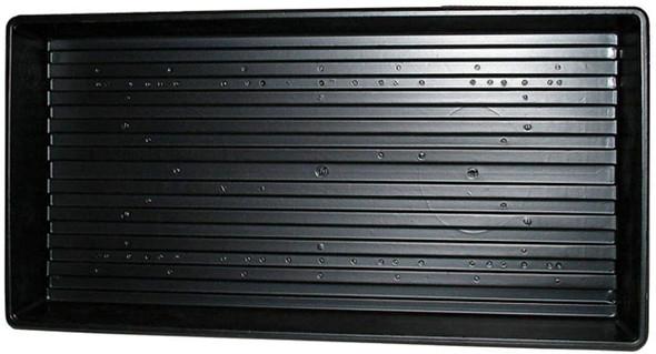 """Jiffy TRAY Plastic Plant Tray, 11"""" x 22"""", Black"""