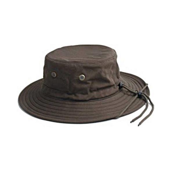 Sloggers (#4471DB) Unisex Cotton Hat w/ Lanyard Dark Brown M/L
