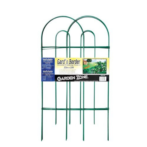 Origin Point 043210 Gard'n Border Round Folding Fence, Green, 32-Inch x 10-Feet