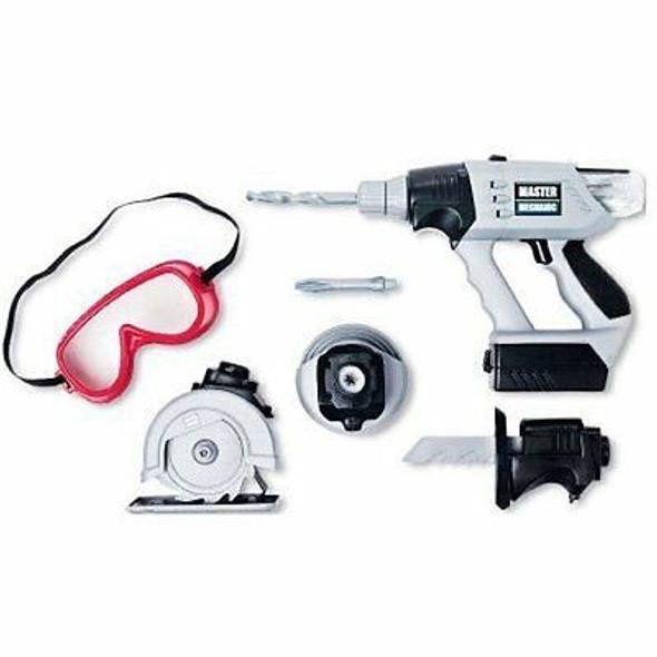 Master Mechanic Carpenter Power Tool Toy 8 Piece Play Set