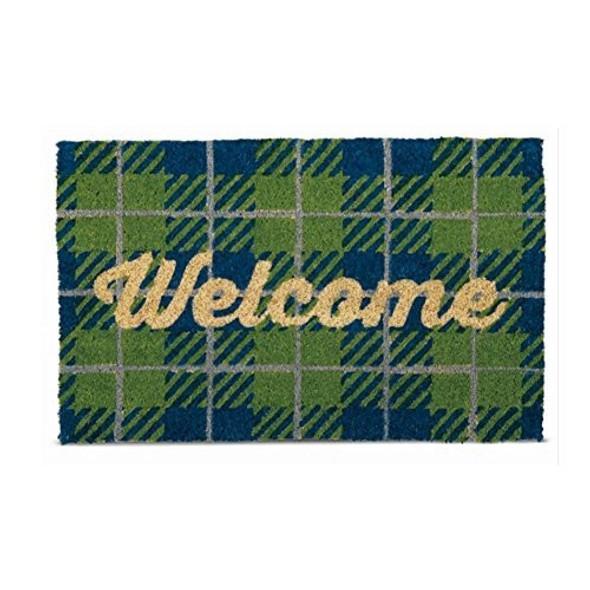 Tag Welcome Camper Plaid Coir Door Mat