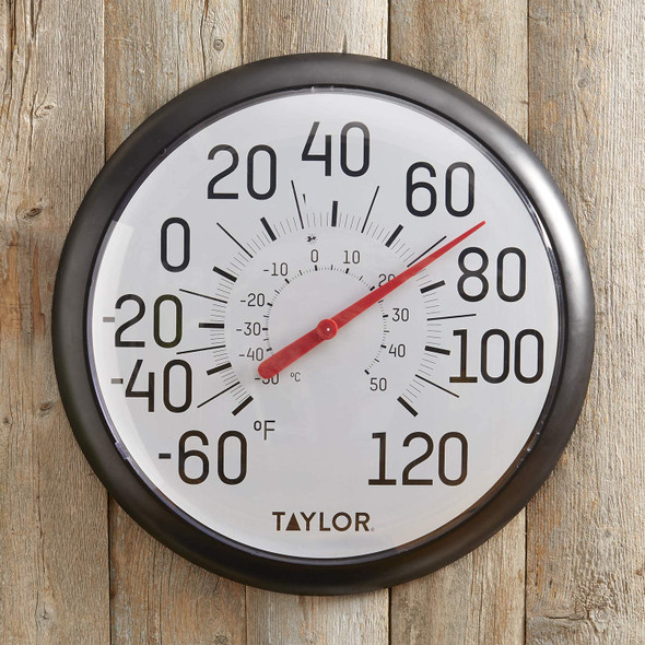 Taylor Precision Products 6700 Big & Bold Wall Thermometer, One Size, Black