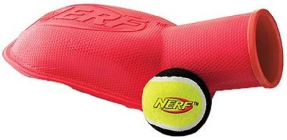 Nerf - 8097 Tennis Ball Dog Stomper, Medium, Red/Blue (Colors may vary)