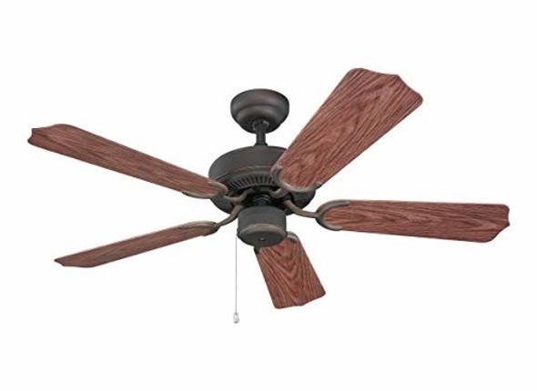 """Monte Carlo 5WF42RB, Weatherford II Roman Bronze 42"""" Outdoor Ceiling Fan"""