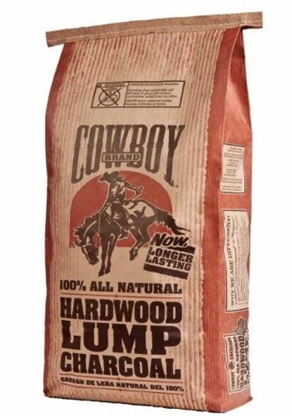 Cowboy All Natural Hardwood Lump Charcoal, Long Lasting, 20-Pound Bag