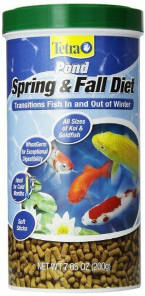 TetraPond Spring & Fall Diet Floating Pond Sticks Fish Food, 7.05 Oz