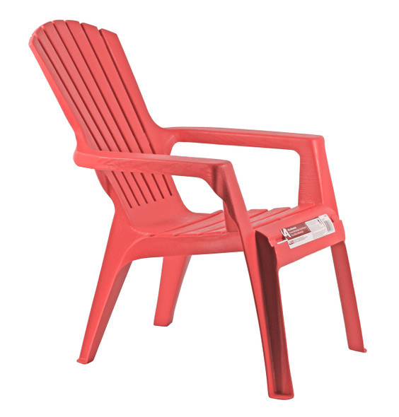 Adams 8460-26-3731 Kid's Adirondack Stacking Chair, Cherry Red