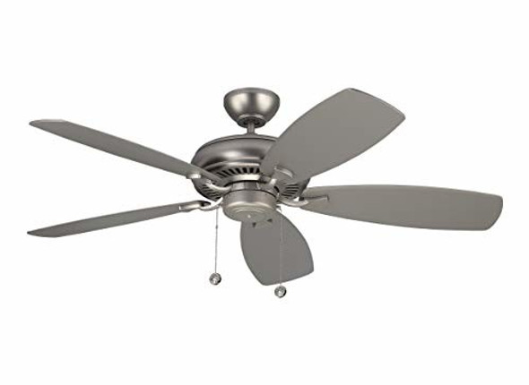 """Monte Carlo 5LCM52RZW, Homeowner Max Brushed Pewter Energy Star 52"""" Ceiling Fan"""