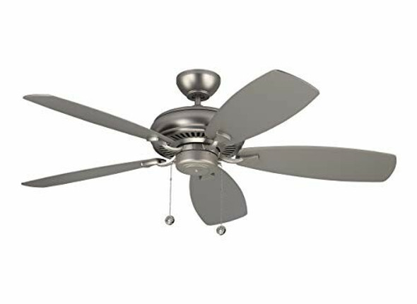 """Monte Carlo 5LCM52BS, Homeowner Max Brushed Pewter Energy Star 52"""" Ceiling Fan"""