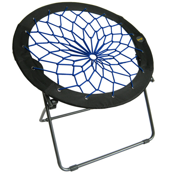 Zenithen Limited Bungee Folding Dish Chairs, Indigo (Pack of 1)