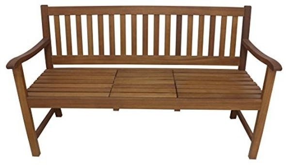 Leigh Country TX 36420 Sequoia Bench with Lift Up Tray, Brown