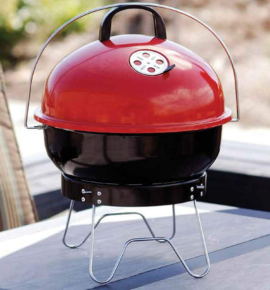 Bond Portable Red Charcoal Kettle Grill