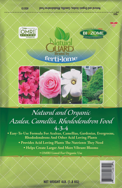 Fertilome NG Natural & Organic Azalea Camellia Rhododendron Food 4-3-4, 4lbs